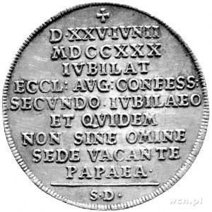 medal na 200-lecie Wyznania Augsburskiego 1730 r., sygn...
