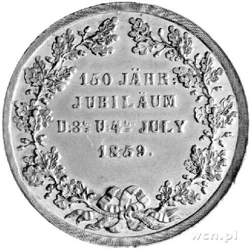 medal z okazji 150-lecia kościoła w Jeleniej Górze 1859...