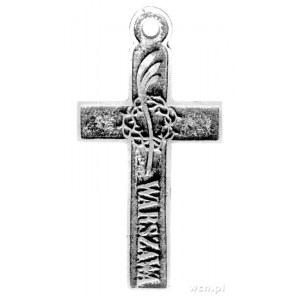 krzyż pamiątkowy Żałoby Narodowej z napisem 25/27 LUT P...