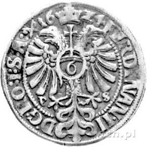 reichsort (6 groszy) 1624, Aw: Herb Magdeburga i napis,...