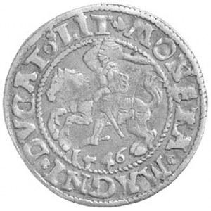 półgrosz 1546, Wilno, Pogoń z ogonem do góry, małe cyfr...