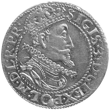 ort 1613, Gdańsk, odmiana z kropką za łapą niedźwiedzia...