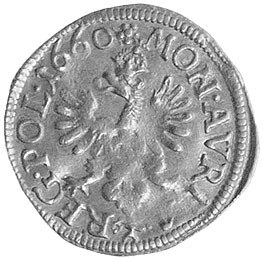 półdukat 1660, Kraków, H-Cz. 2161 R4, Fr. 91, T. 70, zł...