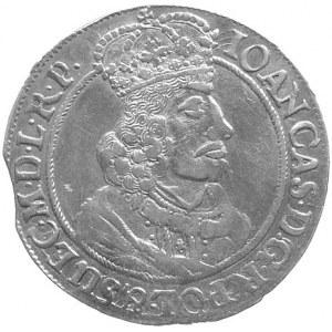 ort 1655, Gdańsk, odmiana z kwiatkiem na końcu napisu n...