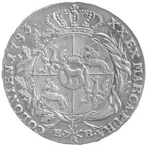półtalar 1783, Warszawa, Plage 369, rzadki