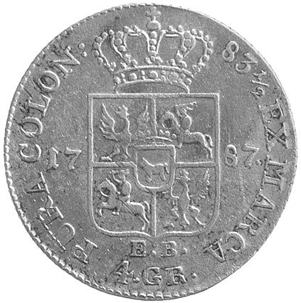 złotówka 1787, Warszawa, Plage 295