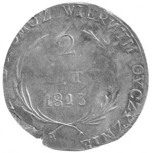 2 złote 1813, Zamość, odmiana z odwróconą literą N, Pla...
