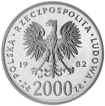 2000 złotych 1982, Szwajcaria, Jan Paweł II, Parchimowi...