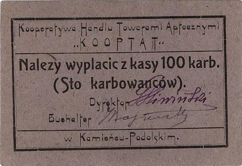 Kamieniec Podolski, Kooperatywa Handlu Towarami Apteczn...