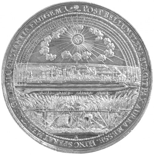 medal na Pokój Oliwski 1660 r., autorstwa Jana Höhna ju...
