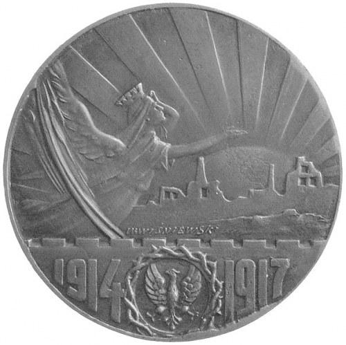 medal autorstwa W. Wiśniewskiego 1917 r.- Kruszwica sym...