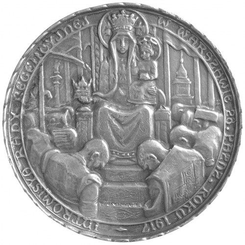 Rada Regencyjna- medal autorstwa J. Raszki 1917 r., Aw:...