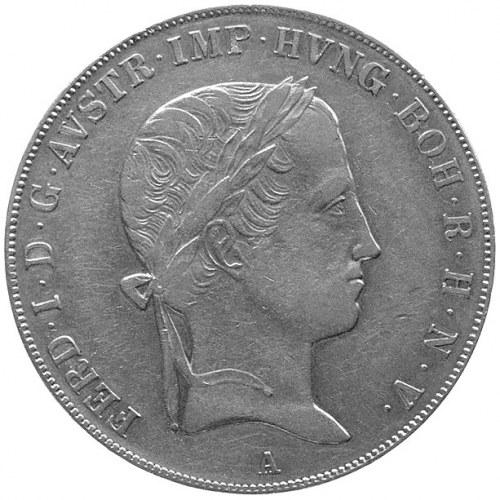 Ferdynand I 1835- 1848, talar 1843, Wiedeń, Aw: Głowa, ...