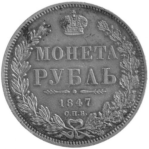 rubel 1847, Petersburg, Uzdenikow 1648, patyna