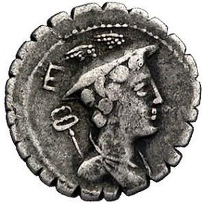 C. Mamilius Limetanus ok. 82 pne, denar, Aw: Popiersie ...