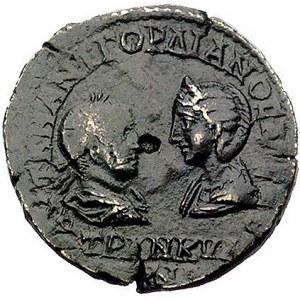 Tracja- Messembria, AE-27, Aw: Popiersia Gordiana i Tra...