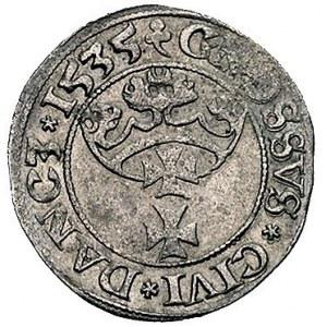grosz 1535, Gdańsk, popiersie króla wcześniejsze, trójl...