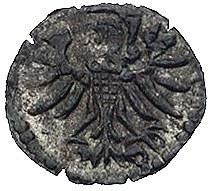 denar 1554, Gdańsk, Kurp. 925 R3, Gum. 640, T. 8, ciemn...