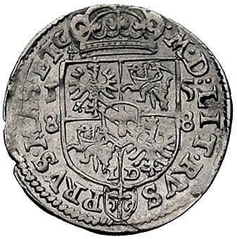 trojak 1588, Olkusz, odmiana z tarczą 4-polową, Wal. VI...