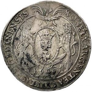 talar 1649, Gdańsk, odmiana z literami G-R u dołu tarcz...