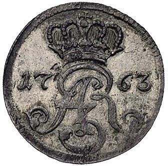 trojak 1763, Toruń, litery D - B, Kam. 1027 R2, Merseb....