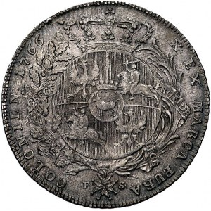 talar 1766, Warszawa, popiersie króla w zbroi, odmiana ...