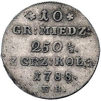 10 groszy miedzianych 1788, Warszawa, Plage 233