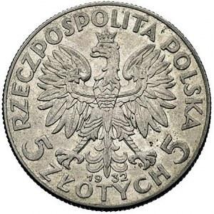 5 złotych 1932, Warszawa, Głowa Kobiety, Parchimowicz 1...