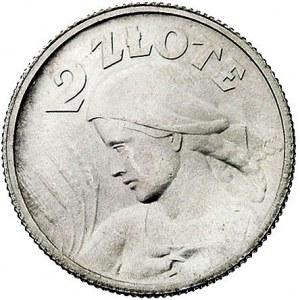 2 złote 1924, Paryż, pochodnia po dacie, Parchimowicz 1...