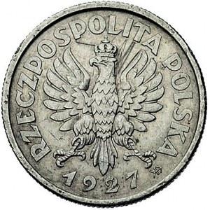 2 złote 1927, Głowa Kobiety z kłosami, na rewersie wypu...