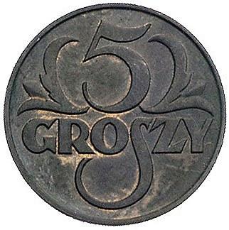 5 groszy 1929, II Zjazd Numizmatyków w Poznaniu, Parchi...