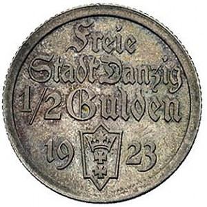 1/2 guldena 1923, Utrecht, Koga, Parchimowicz 59.a, bar...