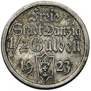 1/2 guldena 1923, Utrecht, Koga, Parchimowicz 59.a, pat...