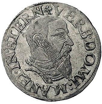 trojak 1543, Brzeg, F.u.S. 1353, rzadki i ładnie zachow...
