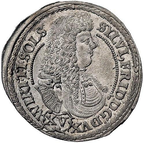 Sylwiusz Fryderyk 1668-1697, 15 krajcarów 1675, Oleśnic...