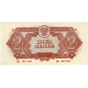 2 złote 1944, seria Bn, \...obowiązkowe, Miłczak 113b