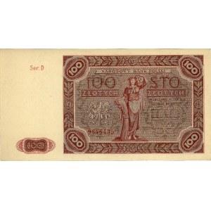 100 złotych 15.07.1947, seria D, Miłczak 131, Pick 131