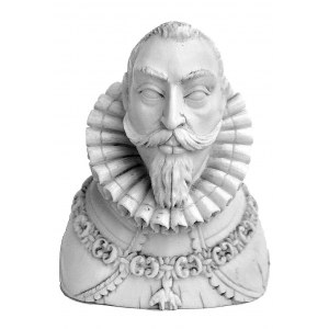popiersie króla Zygmunta III Wazy- rzeźba w kości słoni...