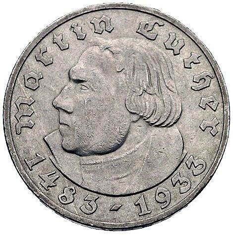 5 marek 1933/A, Berlin, Martin Luther, J. 353