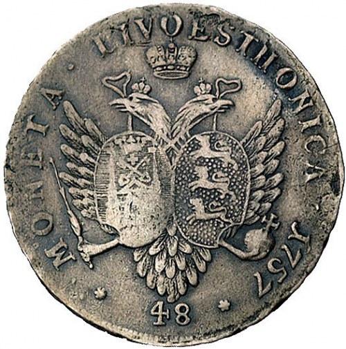 48 kopiejek 1757, Moskwa, Bitkin 471, Uzdenikow 4229, d...