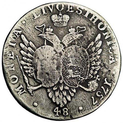48 kopiejek 1757, Moskwa, Bitkin 471, Uzdenikow 4229