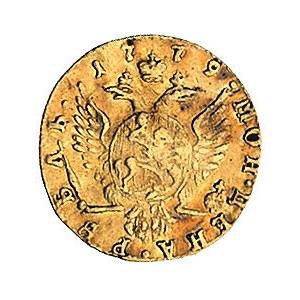 rubel 1779, Petersburg, Bitkin 108, Fr. 118, złoto, 1.0...