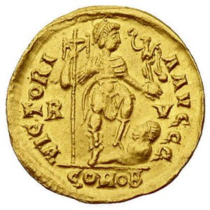 Honoriusz 393-423, solid, mennica Rawenna, Aw: Popiersi...