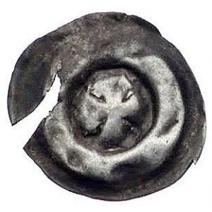 brakteat XIII w.; Krzyż grecki o szerokich ramionach, F...