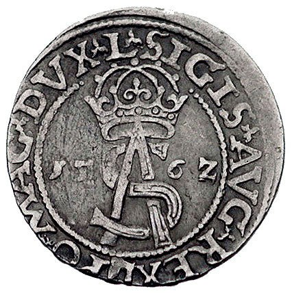 trojak 1562, Wilno, odmiana napisów L / L, Kurp. 813 (R...