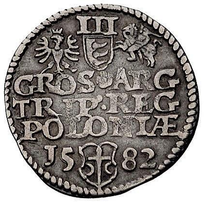 trojak 1582, Olkusz, Kurp. 155 (R1), Gum. 704