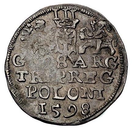 trojak 1598, Lublin, Wal. LXXXVI 9, Kurp. 1045(R), paty...