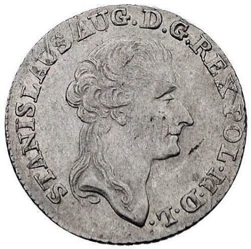 złotówka 1789, Warszawa, Plage 297, minimalna wada bici...