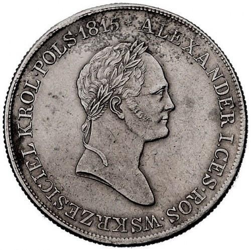 5 zlotych 1832, Warszawa, Plage 41, ślad po zawieszce
