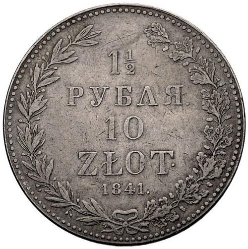 1 1/2 rubla = 10 zlotych 1841, Warszawa, Plage 341